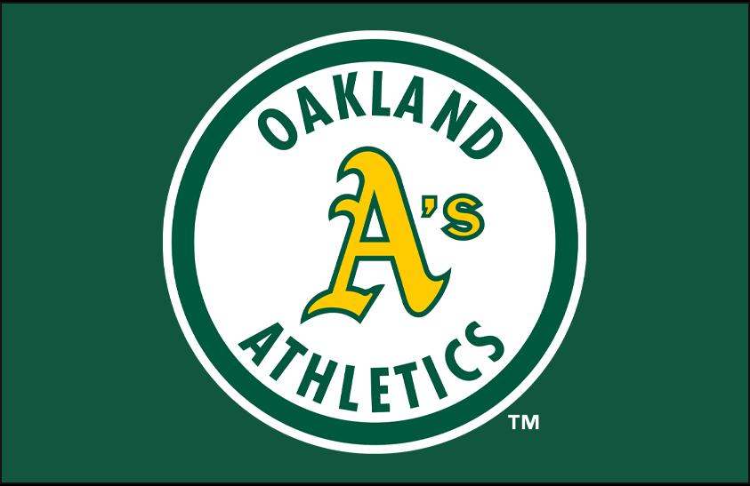 Oakland Athletics Logo Primary Dark Logo (1982-1992) - Oakland Athletics 1980s Bash Brothers era primary logo on green SportsLogos.Net
