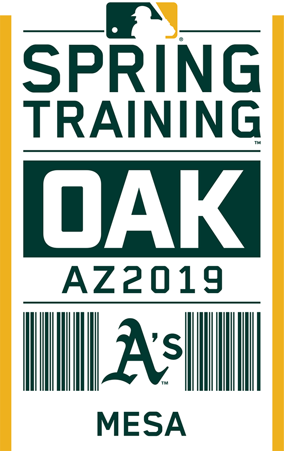 Oakland Athletics Logo Event Logo (2019) - Oakland Athletics 2019 Spring Training Logo SportsLogos.Net