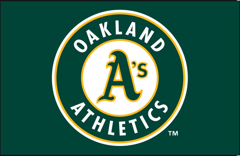 Oakland Athletics Logo Primary Dark Logo (1993-Pres) - Athletics primary mark on green SportsLogos.Net