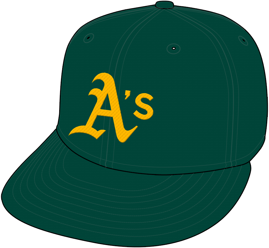 Oakland Athletics Cap Cap (1994-2013) - Road Cap SportsLogos.Net