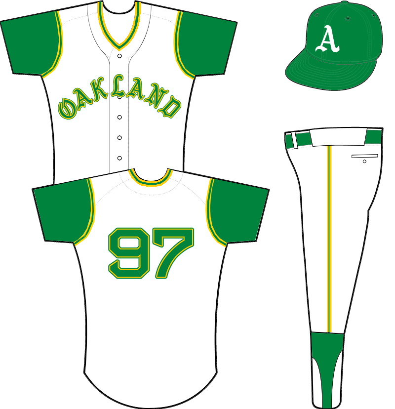 brand new c6fac 3aa22 Oakland Athletics Home Uniform - American League (AL ...