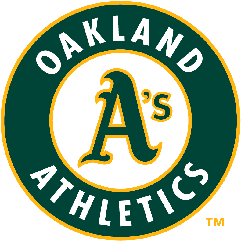 Oakland Athletics Logo Primary Logo (1993-Pres) - A's in green inside thick green circle with Oakland Athletics SportsLogos.Net