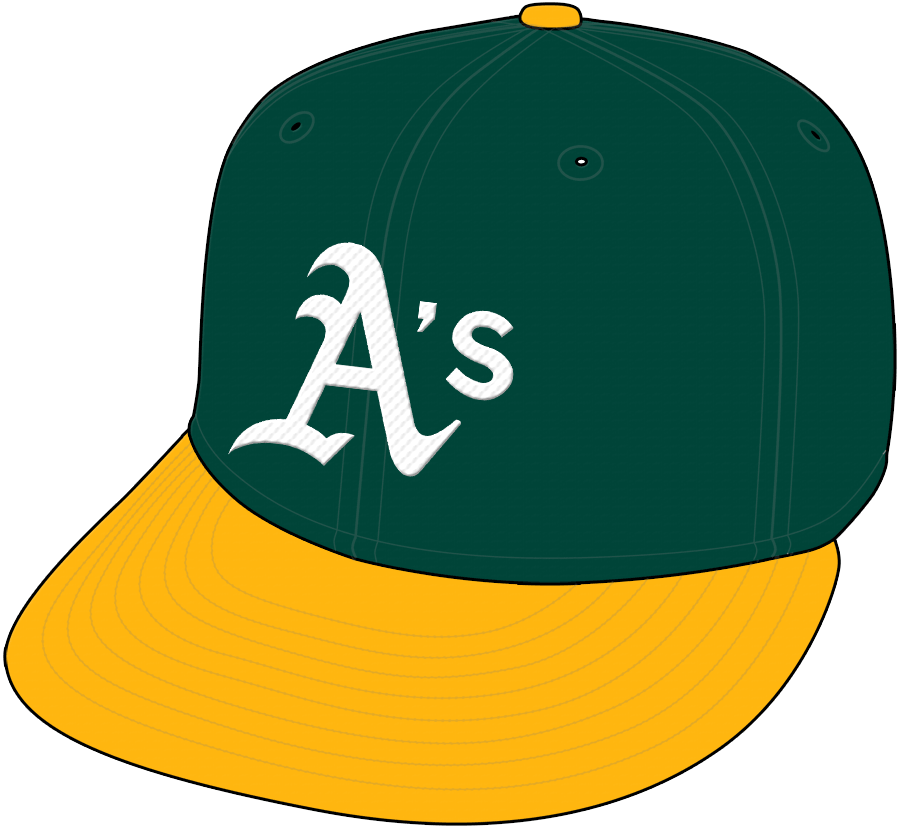 Oakland Athletics Cap Cap (1993-Pres) - Home Cap SportsLogos.Net