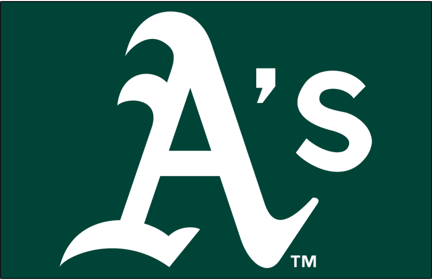Oakland Athletics Logo Cap Logo (1993-Pres) - A's in white on green SportsLogos.Net