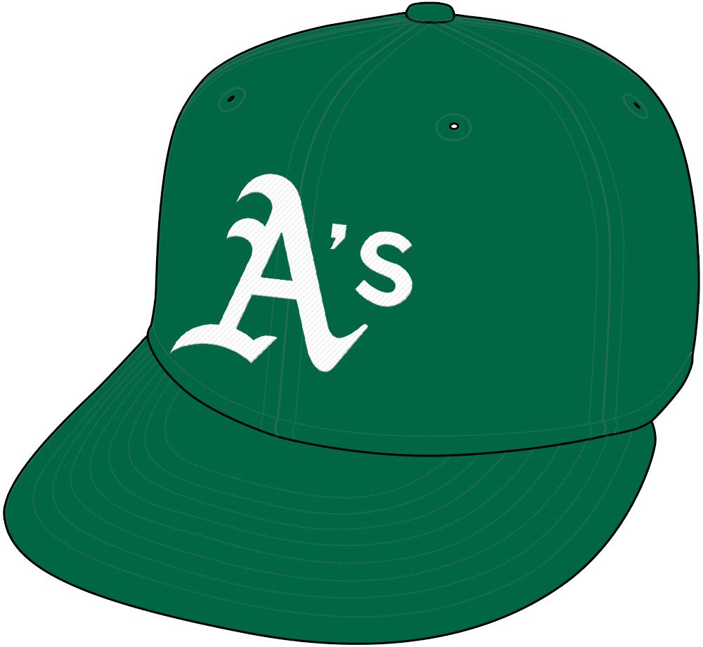 Oakland Athletics Cap Cap (2018-Pres) - Alternate Kelly Green Friday home cap SportsLogos.Net