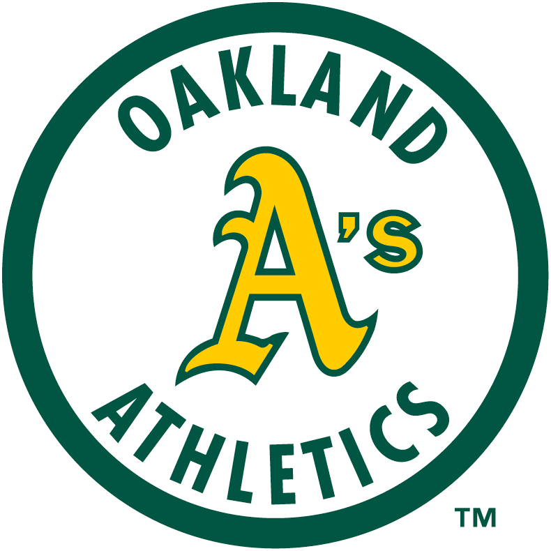Oakland Athletics Logo Primary Logo (1982-1992) - A yellow