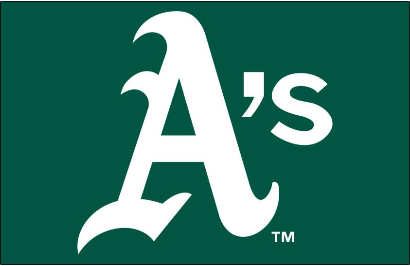 Oakland Athletics Logo Cap Logo (1982-1992) - A's in white on green SportsLogos.Net