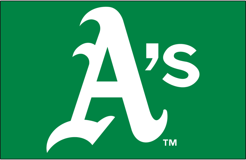 Oakland Athletics Logo Cap Logo (1973-1981) - A's in white on green SportsLogos.Net
