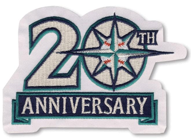 Seattle Mariners Logo Anniversary Logo (1996) - 20th Anniversary of the Seattle Mariners SportsLogos.Net
