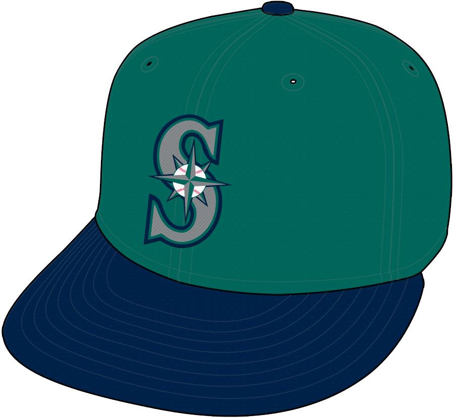Seattle Mariners Cap Cap (1994-1996) - Alternate Cap SportsLogos.Net