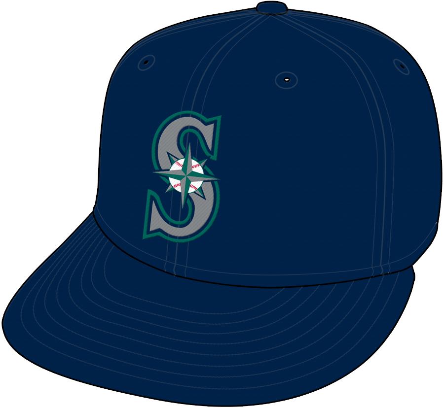 Seattle Mariners Cap Cap (1993-Pres) - Road Only 1993-2003 SportsLogos.Net