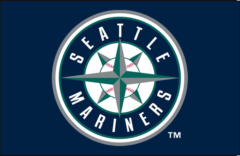 Seattle Mariners Logo Primary Dark Logo (1993-Pres) - Mariners primary mark on blue SportsLogos.Net