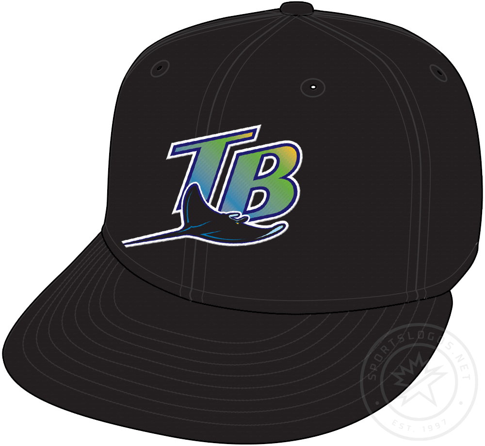 Tampa Bay Devil Rays Cap Cap (1998-2000) - Tampa Bay Devil Rays original game cap, worn at home and the road from 1998 through 2000 SportsLogos.Net
