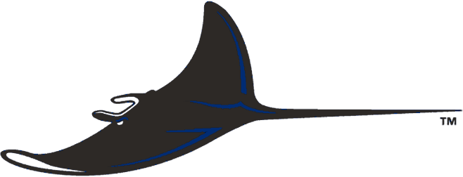 Tampa Bay Devil Rays Logo Alternate Logo (2001-2007) - A swimming devil ray in black with blue accents SportsLogos.Net