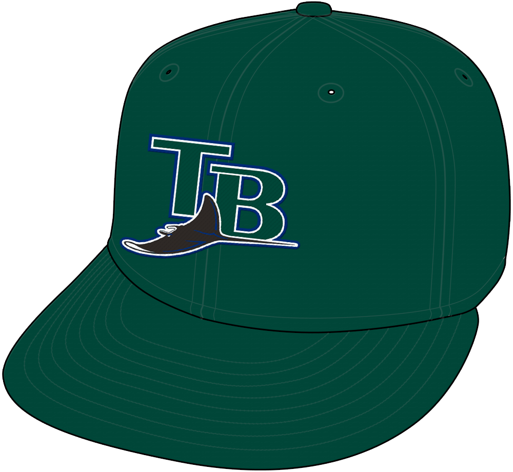 Tampa Bay Devil Rays Cap Cap (2005-2007) - Tampa Bay Devil Rays all green home and road cap SportsLogos.Net