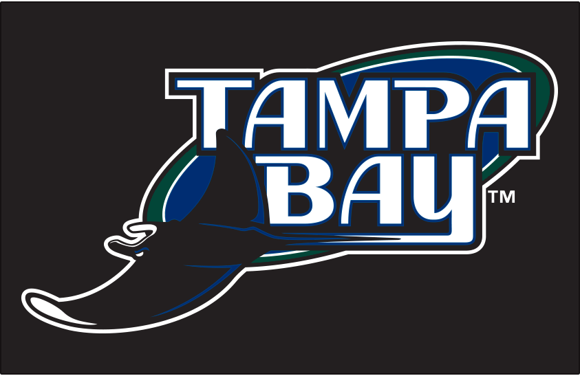Tampa Bay Devil Rays Logo Primary Dark Logo (2001-2007) - Tampa Bay Devil Rays logo on black SportsLogos.Net