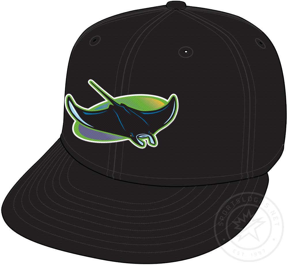 Tampa Bay Devil Rays Cap Cap (1998-2000) - Tampa Bay Devil Rays alternate home cap, worn rarely from 1998 through 2000 SportsLogos.Net