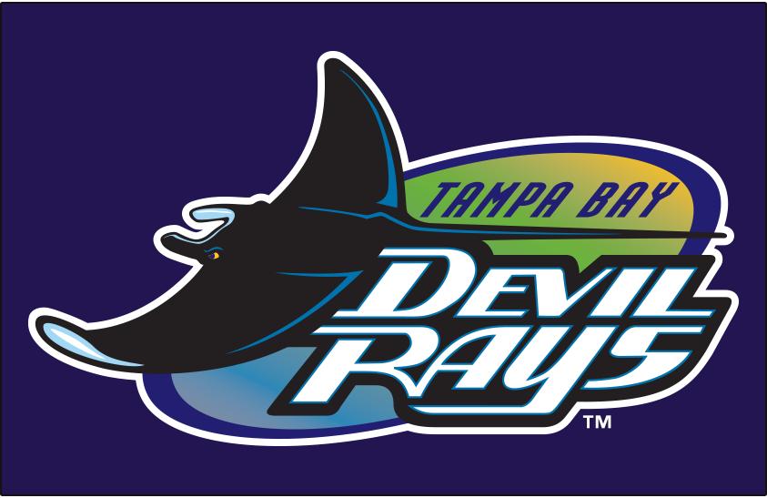 Tampa Bay Devil Rays Logo Primary Dark Logo (1998-2000) - Tampa Bay Devil Rays original logo on purple SportsLogos.Net