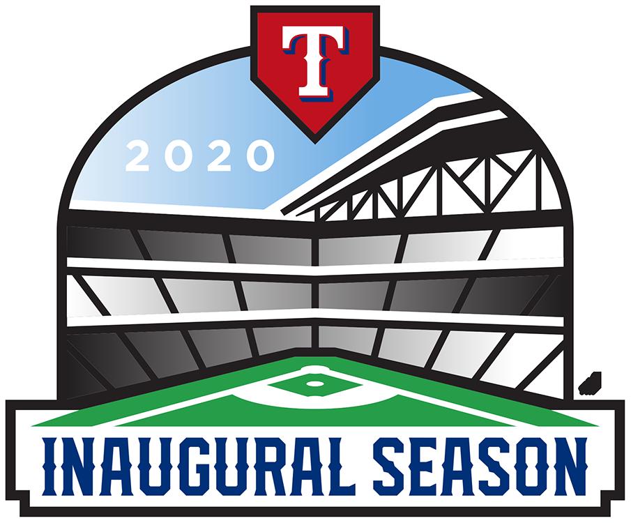 Texas Rangers Logo Stadium Logo (2020) - Texas Rangers Globe Life Field inaugural season logo. Worn on right sleeve of all Rangers uniforms during the 2020 season SportsLogos.Net