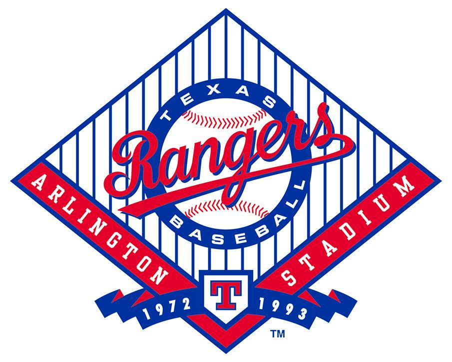 Texas Rangers Logo Stadium Logo (1993) - Final Season of Arlington Stadium 1972-1993 SportsLogos.Net