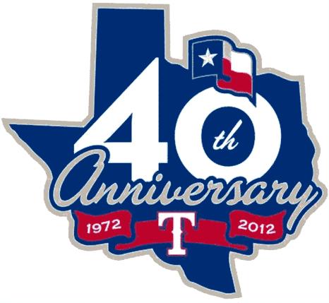 Texas Rangers Logo Anniversary Logo (2012) - Texas Rangers 40th anniversary logo SportsLogos.Net