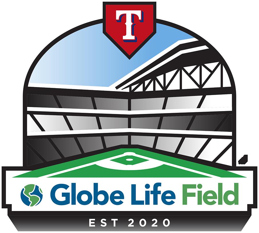 Texas Rangers Logo Stadium Logo (2020-Pres) - Texas Rangers Globe Life Field logo SportsLogos.Net