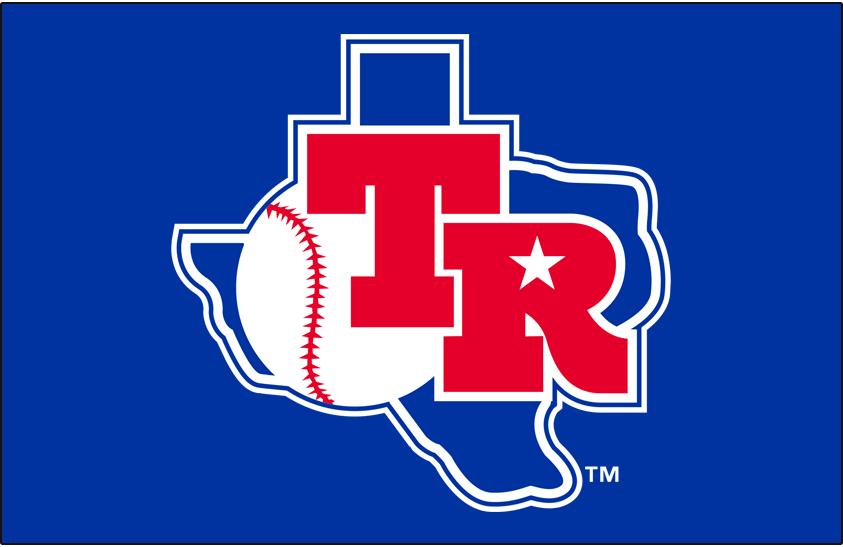 Texas Rangers Logo Primary Dark Logo (1982-1983) - Texas Rangers primary logo on blue background SportsLogos.Net