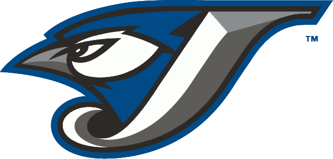 Toronto Blue Jays Logo Alternate Logo (2004-2011) - A Blue Jay head inside a J in white with silver and graphite beveling and black and blue outlines SportsLogos.Net
