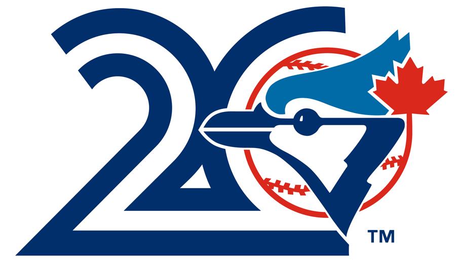 Toronto Blue Jays Logo Anniversary Logo (1996) - Toronto Blue Jays 20th Anniversary SportsLogos.Net