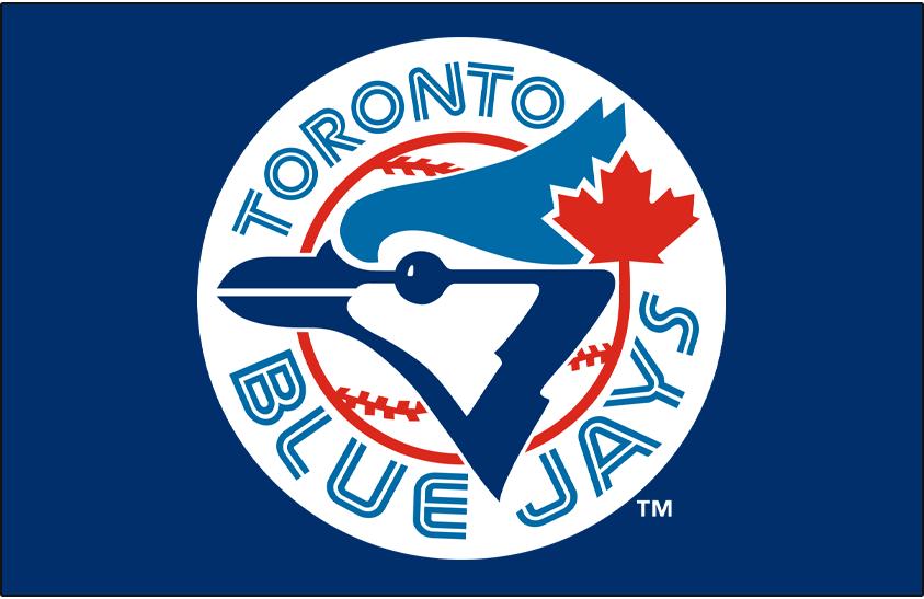 Toronto Blue Jays Logo Primary Dark Logo (1977-1996) - Toronto Blue Jays original primary Logo on Blue SportsLogos.Net
