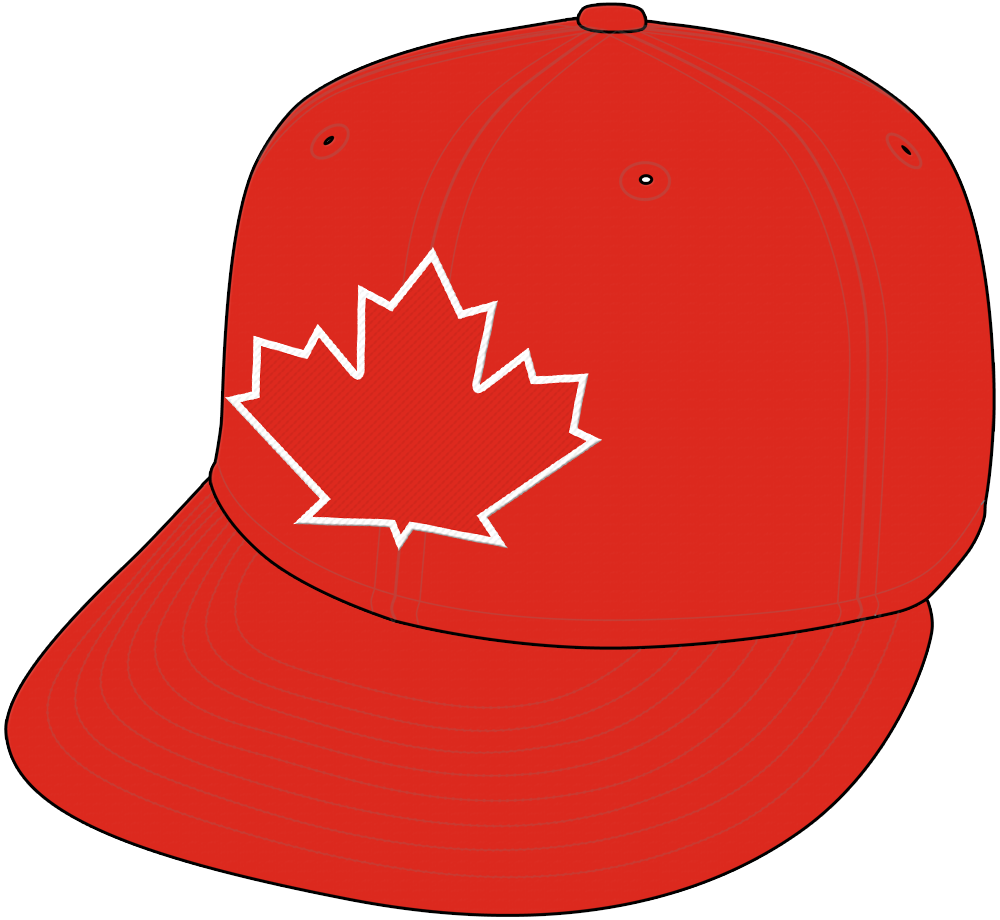 Toronto Blue Jays Cap Cap (2017-2019) - Blue Jays Alternate Canada style cap, all red with red and white maple leaf SportsLogos.Net