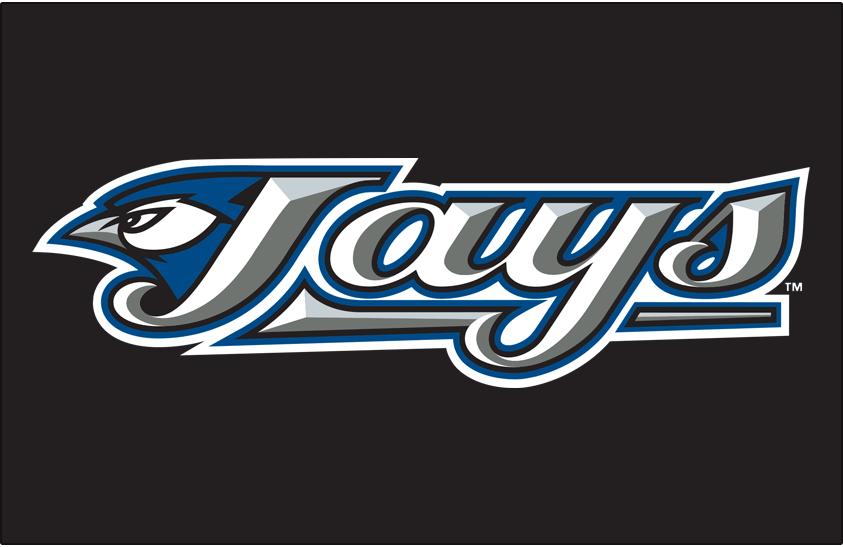 Toronto Blue Jays Logo Primary Dark Logo (2004-2011) - Toronto Blue Jays primary logo on black SportsLogos.Net