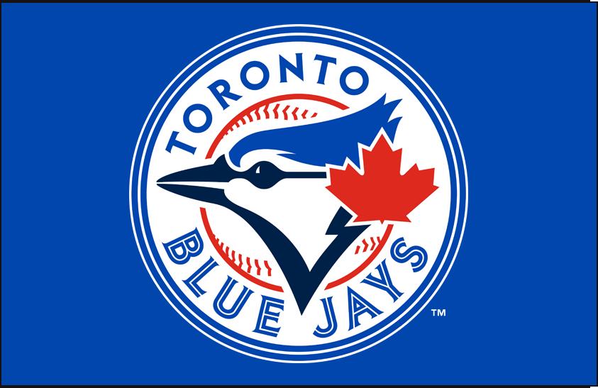 Toronto Blue Jays Logo Primary Dark Logo (2012-2019) - Blue Jays primary mark on blue SportsLogos.Net