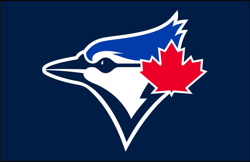 Toronto Blue Jays Logo Cap Logo (2020-Pres) - Blue Jays primary logo on navy blue, worn on the team's alternate cap paired with their powder blue uniform SportsLogos.Net