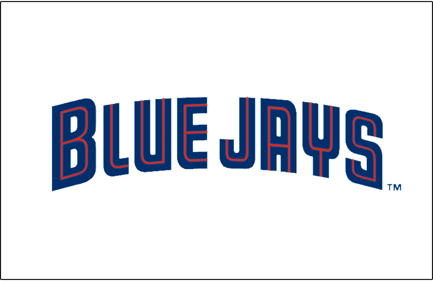 Toronto Blue Jays Logo Special Event Logo (1998) - (Canada Day) Blue Jays in blue with a thin red inline on white SportsLogos.Net