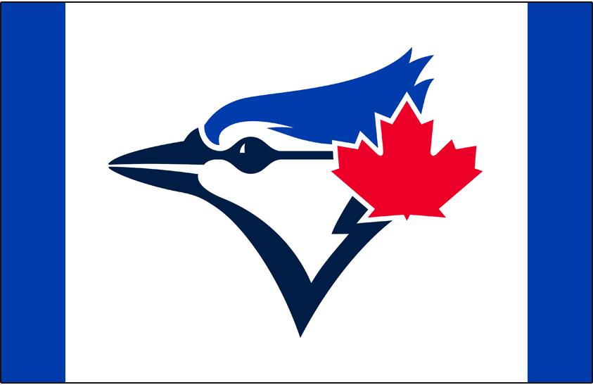 Toronto Blue Jays Logo Cap Logo (2020-Pres) - Blue Jays primary logo on a white front panel with royal blue crown, worn on the team's alternate home retro-styled cap SportsLogos.Net