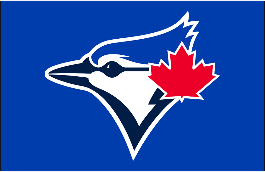 Toronto Blue Jays Logo Cap Logo (2020-Pres) - Blue Jays primary logo on royal blue, worn on the team's home and road primary game caps SportsLogos.Net