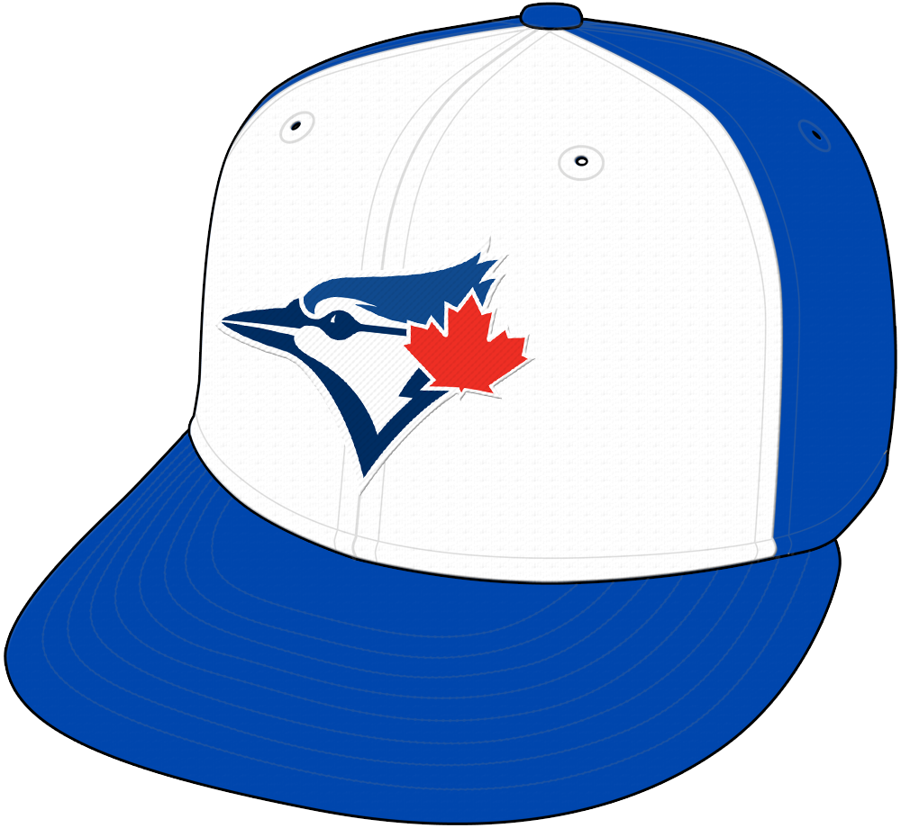 Toronto Blue Jays Cap Cap (2015-2019) - Blue Jays Alternate retro style cap, blue with white front panel, originally worn as a one-off in 2015, worn a few more times in 2016, and then made an alternate in 2017 SportsLogos.Net