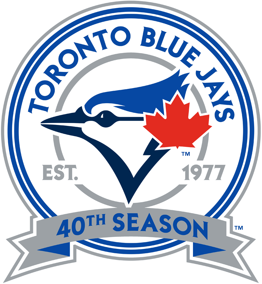 Toronto Blue Jays Logo Anniversary Logo (2016) - Toronto Blue Jays 40th season logo SportsLogos.Net