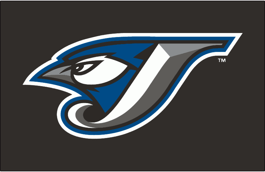 Toronto Blue Jays Logo Cap Logo (2004-2011) - A Blue Jay head inside a J in white with silver and graphite beveling and black, blue and white outlines on black SportsLogos.Net