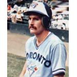 Toronto Blue Jays (1977) Steve Staggs posing for his 1978 Topps baseball card, wearing the Toronto Blue Jays road uniform in 1977