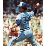 Toronto Blue Jays (1978) Jesse Jefferson pitching for the Toronto Blue Jays as seen on his 1980 Topps baseball card, wearing the Toronto Blue Jays road uniform in 1978