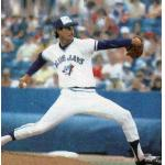 Toronto Blue Jays (1979) Jim Clancy pitching for the Toronto Blue Jays as seen on his 1980 Topps baseball card, wearing the Toronto Blue Jays home uniform in 1979