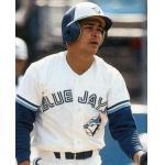 Toronto Blue Jays (1989) Junior Felix of the Toronto Blue Jays on his 1989 Upper Deck card wearing the Blue Jays home uniform in 1989