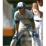 Toronto Blue Jays (1989) Rob Ducey of the Toronto Blue Jays on his 1989 Upper Deck card wearing the Blue Jays road uniform in 1989