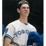 Toronto Blue Jays (1994) Shawn Green wearing the Toronto Blue Jays road uniform with MLB 125th Anniversary patch during the 1994 season