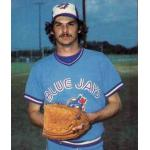 Toronto Blue Jays (1980) Jim Clancy posing for a trading card photo wearing the Toronto Blue Jays road uniform during 1980 season