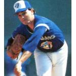 Toronto Blue Jays (1985) Jimmy Key on the mound wearing the Toronto Blue Jays batting practice uniform in 1985