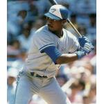 Toronto Blue Jays (1990) Fred McGriff at the plate wearing the Toronto Blue Jays road uniform in 1990