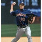 Toronto Blue Jays (2002) Roy Halladay wearing the Toronto Blue Jays alternate uniform in 2002